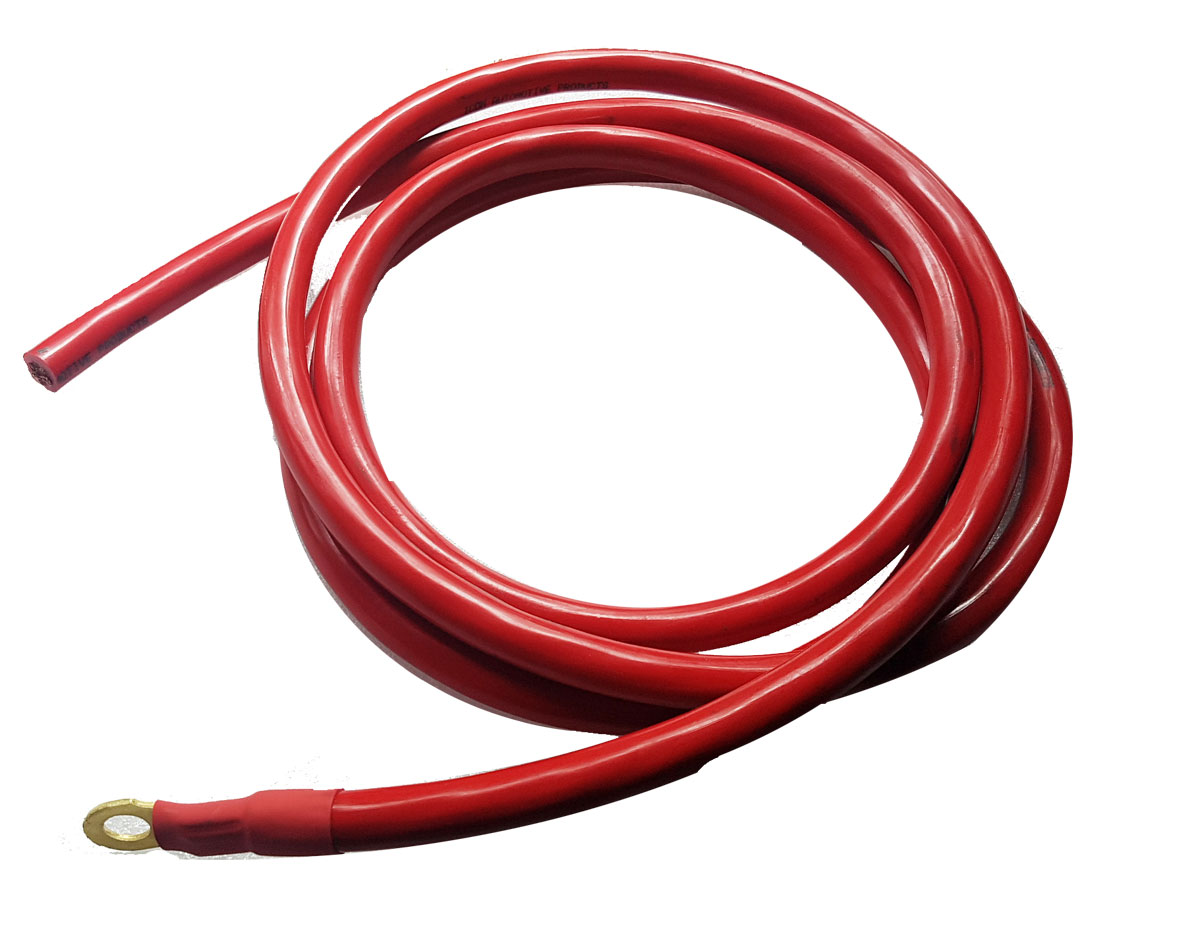 Red Battery Cable : Red battery cable mm length energy unlimited