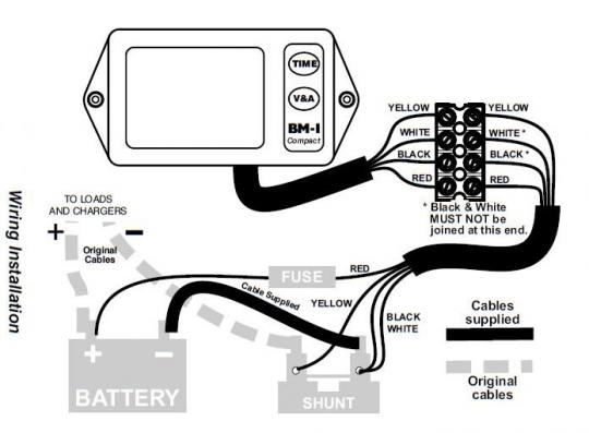 nasa marine bm1 compact battery monitor 12v